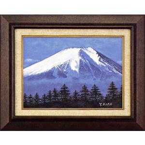 絵画 F4「白富士」加藤芳雄作(油絵)|e-kakejiku