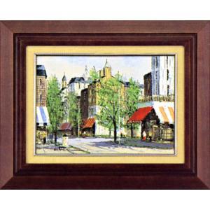 絵画 F4「パリの街角」黒沢久作(油絵)|e-kakejiku