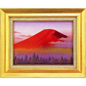 絵画 F4「赤富士」徳田春邦作(油絵)|e-kakejiku