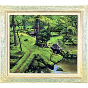 絵画 F10号「苔寺」 堤 照男 作(油絵)|e-kakejiku