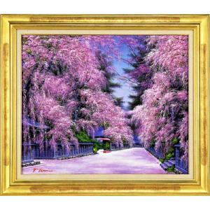 絵画 F20号「角館の桜」 寺井 孝 作(油絵)|e-kakejiku