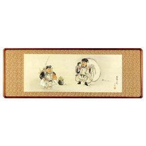 欄間額「二福神」中野京香作 (欄間額・書・花鳥・山水)|e-kakejiku