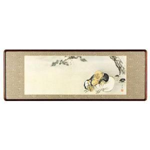 欄間額「月に布袋」中野京香作 (欄間額・書・花鳥・山水)|e-kakejiku