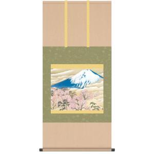 掛け軸「冨士に桜図」横山大観|e-kakejiku