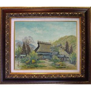 絵画 「丹波園部の里(京都府)」(油絵) 林与三郎作|e-kakejiku