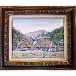 絵画 「若狭の農家」(油絵) 林与三郎作|e-kakejiku