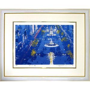 版画 「北の街」本間 武男(シルクスクリーン・絵画)|e-kakejiku