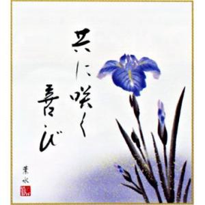 色紙「菖蒲」(日本の伝統美)|e-kakejiku