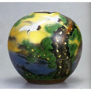九谷焼 10号花瓶・金雲鶴/10号花瓶/床の間/和室|e-kakejiku
