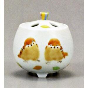 香炉 九谷焼 2.7号香炉・ひなたぼっこ 高聡文 お祝い・海外への贈り物・ギフト|e-kakejiku