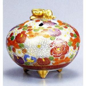 香炉 九谷焼 4号香炉・金花詰 お祝い・海外への贈り物・ギフト|e-kakejiku