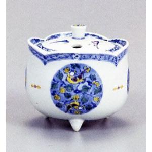 香炉 九谷焼 3号香炉・双取紋 三浦晃禎 お祝い・海外への贈り物・ギフト|e-kakejiku