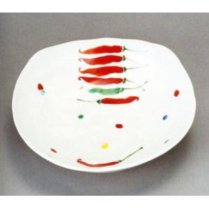 九谷焼 7号鉢・とうがらし フルタテルミ|e-kakejiku