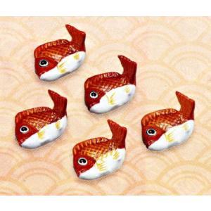 九谷焼 鯛箸置・赤 お祝い 和室 御膳|e-kakejiku