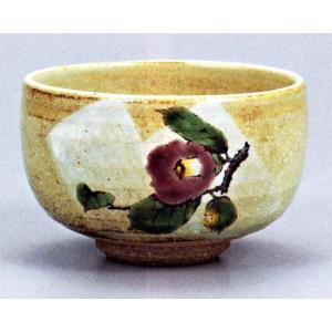 茶碗・茶道具・抹茶碗 九谷焼 紫椿 陶志窯|e-kakejiku