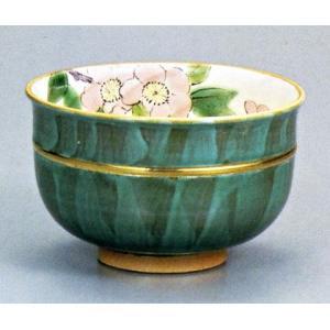 茶碗・茶道具・抹茶碗 九谷焼 海棠 青良窯|e-kakejiku