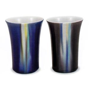 九谷焼 ペアフリーカップ・釉彩 博蜂窯|e-kakejiku