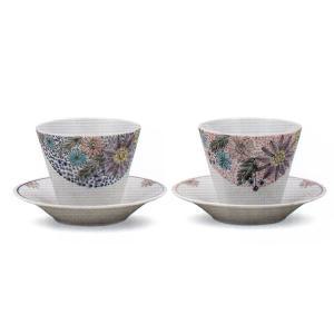 九谷焼 ペアフリーカップ・花の詩|e-kakejiku