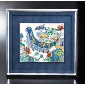 九谷焼「陶額・海皇の宴」山近泰 お祝い・海外への贈り物・ギフト|e-kakejiku