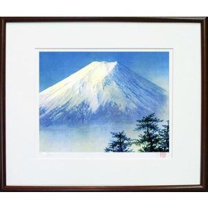 版画 「白富士」ジクレー版画 神崎淳画伯(絵画)|e-kakejiku