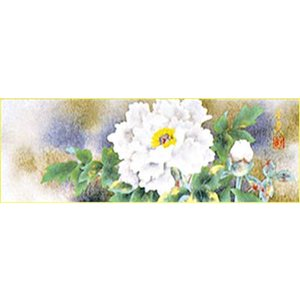 WSM色紙 「牡丹」(岩彩色紙)松村朱夏作|e-kakejiku