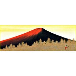 WSM色紙 「赤富士」青柳大雲作|e-kakejiku