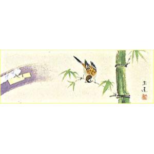 WSM色紙 「竹に雀」永田朱雀作|e-kakejiku