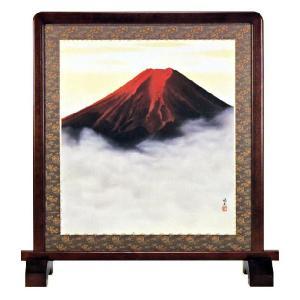 衝立 「赤富士」西森湧光 作|e-kakejiku