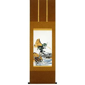 円山応挙筆 「蓬莱山」 木版画(掛け軸)|e-kakejiku