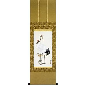 円山応挙筆 「丹頂鶴」 木版画(掛け軸)|e-kakejiku