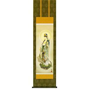 掛け軸 聖観音像 鈴木翠朋作 仏事の掛軸・掛け軸(掛け軸)|e-kakejiku