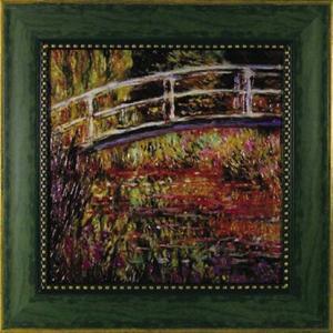 アート 「日本風の橋」 モネ|e-kakejiku