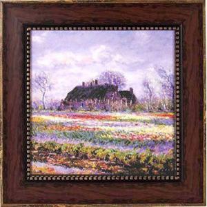 アート 「チューリップ畑」 モネ|e-kakejiku