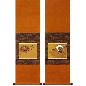 尾形光琳筆 「風神雷神図」 木版画(掛け軸)|e-kakejiku