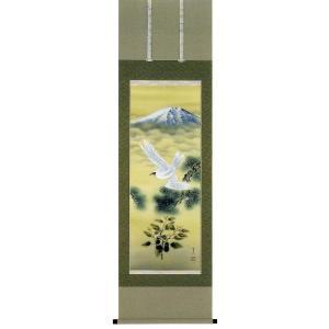掛け軸 「一富士二鷹三茄子」 野村雪草作 (お正月・結納・慶事用の掛軸)|e-kakejiku