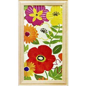 絵画「ウォーターカラーガーデンパネル2」ペラ(Pela)/花の絵画/アート|e-kakejiku