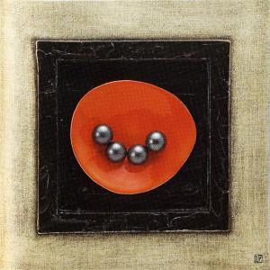 アート 「オレンジプレート・ベージュ」|e-kakejiku