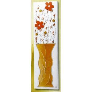 アート 「イエローベース&オレンジフラワー」|e-kakejiku