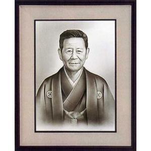 肖像画 F10 墨絵|e-kakejiku