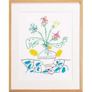 パブロ ピカソ 「花瓶の花」|e-kakejiku