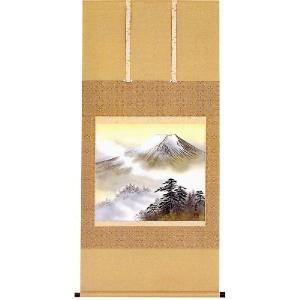 掛け軸 「富士」 真島東紅作 (モダン インテリア 掛軸)|e-kakejiku