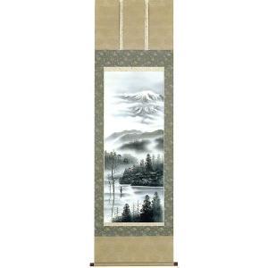 掛け軸 「上高地」 小川翠湖作 (モダン インテリア 掛軸)|e-kakejiku