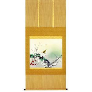 掛け軸 「紅白梅」 千村俊二作(花鳥 掛軸)|e-kakejiku