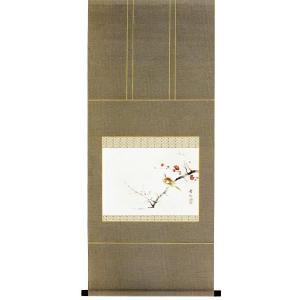 掛け軸 「紅白梅」 柳沢寿江作(花鳥 掛軸)|e-kakejiku