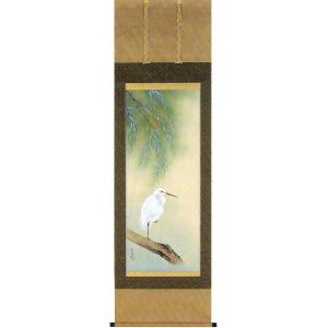 掛け軸 「白鷺」 吉倉美雪作(夏の掛軸)|e-kakejiku