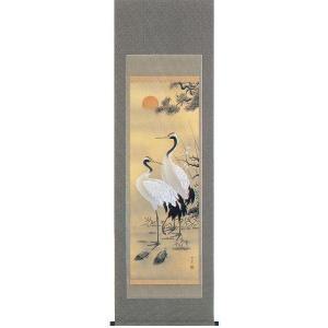 掛け軸「松竹梅鶴亀」野村雪草作(お正月・結納・慶事用の掛軸)|e-kakejiku