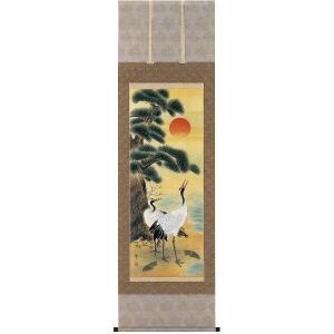 掛け軸「松竹梅鶴亀」平瀬萌山作(お正月・結納・慶事用の掛軸)|e-kakejiku