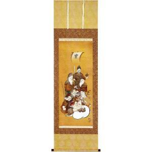 掛け軸 「七福神」山田邦人作(お祝い・掛軸)|e-kakejiku