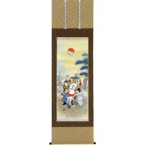 掛け軸 「七福神」森 栖鶴作(お祝い・掛軸)|e-kakejiku