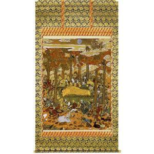 掛け軸 「釈迦涅槃図」片山白樹作 仏事用の掛軸 モダン 掛軸 販売 床の間 受注制作品|e-kakejiku